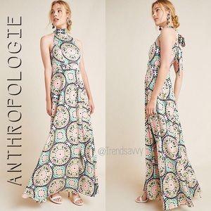 ANTHROPOLOGIE Nicole Miller Serena Maxi Dress 10